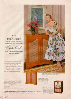 1954 Irene Dunne Photo Capehart Phonograph print ad