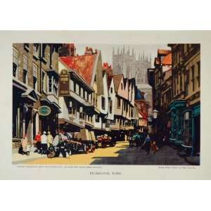 York Street Scene Fred Taylor Print   Original Print