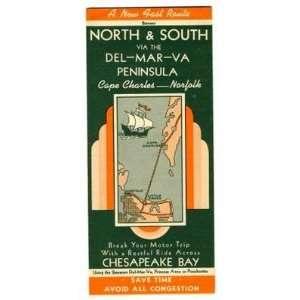 Del Mar Va Ferry Brochure Pocahontas & Princess Anne 1950