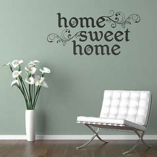 home sweet home wall sticker quote by aijographics
