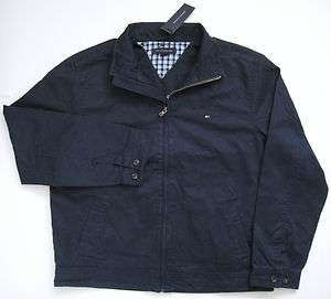 TOMMY HILFIGER Mens Logan Jacket Navy Blue Cotton Popular Golf NEW NWT