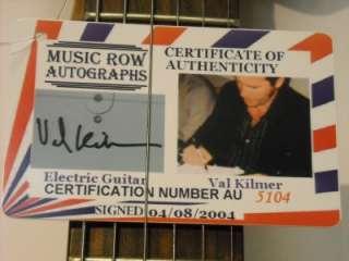 VAL KILMER The Doors SIGNED Electric Guitar Autograph GAI COA