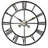 Infinity Instruments The Iron Tower Large Wrought Iron Wall Clock