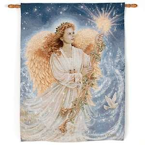 Stardust Angel Fiber Optic Musical Tapestry Wall Hanging