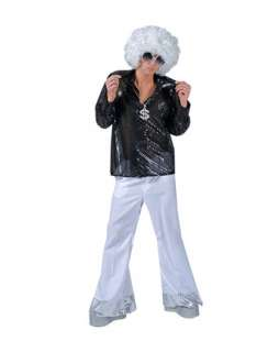 Mens Silver Stardust Disco Pants with Sequin Cuff  Disco Halloween