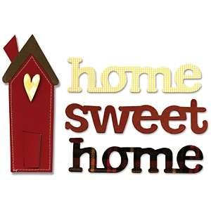 Sizzix Bigz BIGkick/Big Shot Die   Home Sweet/House Phrase