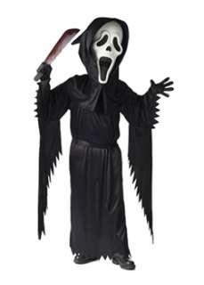 Bobble Head Ghost Face  Cheap Horror Halloween Costume for Boys
