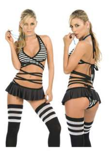 Sexy Play Nicely Referee  Cheap Referee Halloween Costume for Sexy