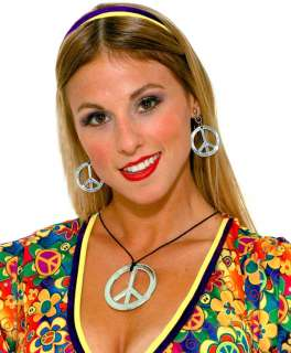 Hippie Peace Sign Jewelry Set   Hippie Costumes