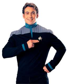 Nine Star Trek Uniform Teal Shirt   Adult Star Trek Uniform Costumes