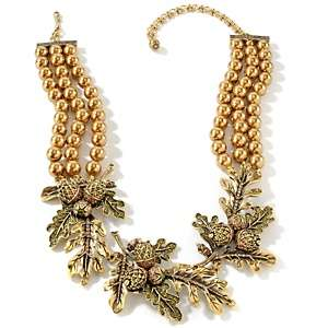 Heidi Daus Autumn Leaves Crystal Accented 3 Row Necklace
