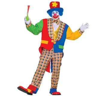Clown on The Town Adult Costume   Includes Hat, jacket, shirt front