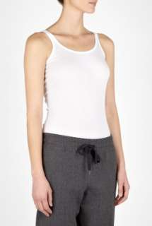 Vince  White Sleeveless Tank Top by Vince