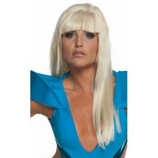 Lady Gaga Straight Adult Wig with Bangs   Includes Wig.
