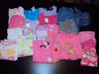 Huge 20 Piece Infant Toddler Girls Clothing LOT Size 2T 3T