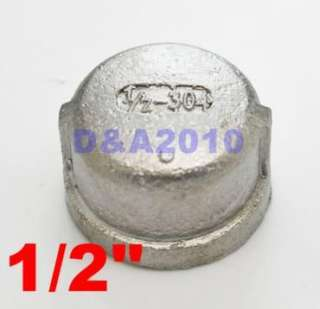 Stainless steel Pipe fitting Cap 1/2 threaded Type 304
