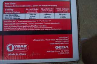 Desa /Reddy Rlp30 forced air propane heater 30,000 B.t.u portable 700