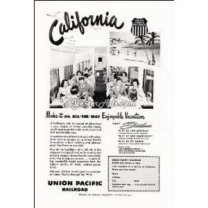 1951 Vintage Ad Union Pacific Railroad Make it an all the