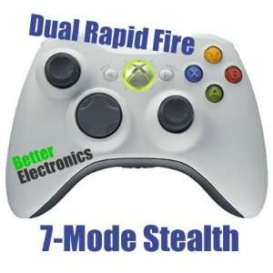 7 mode Xbox 360 Dual Rapid Fire Modded Controller Stealth