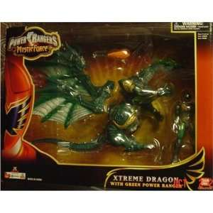 Power Rangers Xtreme Dragon with Green Power Ranger: Toys & Games