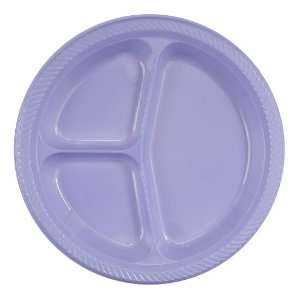 Lilac Bloom Plastic Divided Dinner Plate 20 Count