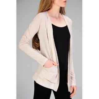 Bobi Womens Tonal Stripe Long Sleeve Cardigan Sweater