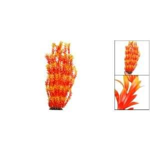 Como Orange Plant Grass Ornament for Aquarium Water Tank Pet Supplies