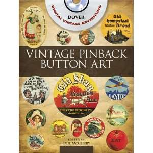 Vintage Pinback Button Art CD ROM and Book (Dover Electronic Clip Art