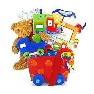 New Baby Boy Gift Basket   Great Shower Gift Idea for Newborns Baby