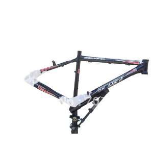 black and white mountain bike frame/bicycle frame +