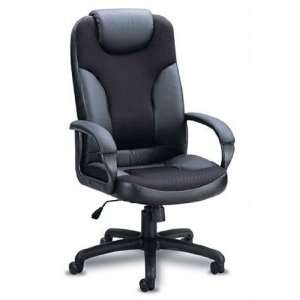 Black Leather and Mesh Home Office Executive Chair   Coaster Co