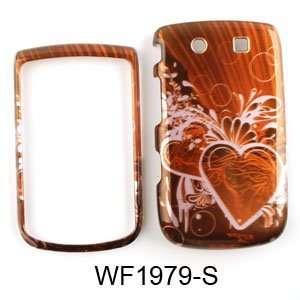 Blackberry Torch 9800 Transparent Design, Pink Heart on Red Hard Case