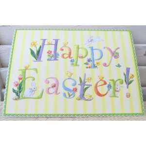 Carol Wilson Happy Easter Card   Playful Bunnies and Chicks