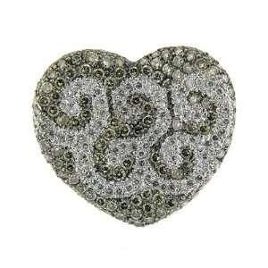 50 ct White Gold Heart Shape Champagne Diamond Ring 14 K Jewelry