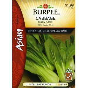 Burpee 69627 Asian   Cabbage Baby Choi Seed Packet: Patio