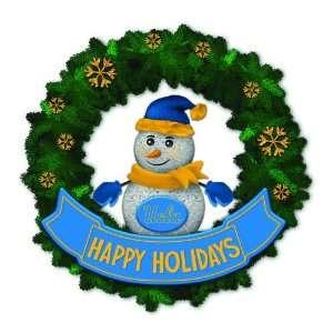 Bruins Lighted Snowman Artificial Christmas Wreath
