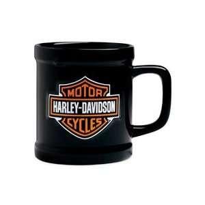 Harley Davidson® Bar & Shield Logo Sculpted Coffee Mug. Set of Four