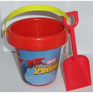 Spiderman Red Sand Beach Pail and Shovel Toys & Games