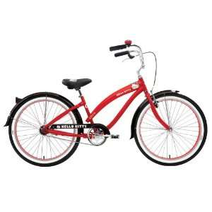 Retro Kitty 26 Womens Cruiser Bicycle:  Sports & Outdoors
