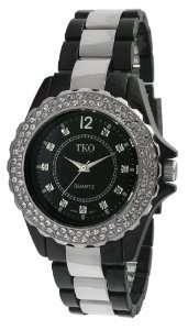 TK544 BK Cerami Steel Swarovski Crystal Black Acrylic Watch Watches