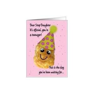 Step Daughter 13 Happy Birthday Funny Tater Tot Card