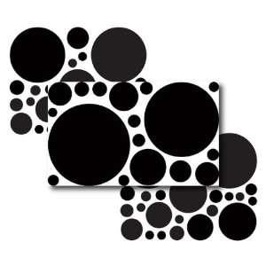 67 Large Black Polka Dot Wall Transfers Baby