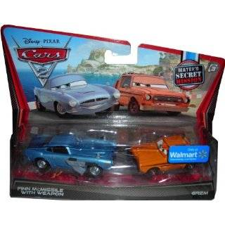 DISNEY PIXAR CARS 2 FINN MCMISSILE WITH WEAPON GREM THE GREMLIN 2 PACK