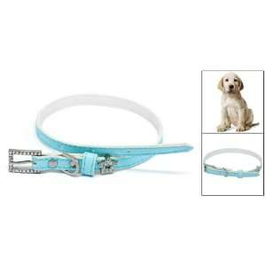 Como Rhinestone Star Pet Dog Neck Collar Leather Band