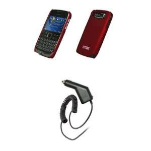 EMPIRE   Nokia E72   Premium Red Rubberized Snap On Cover Hard Case
