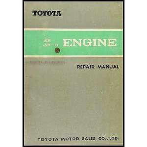 1967 Toyota 3R/3R B Engine Repair Shop Manual Crown Corona