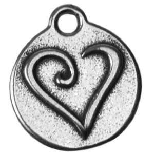 Whimsical Heart Charm   sterling silver Arts, Crafts