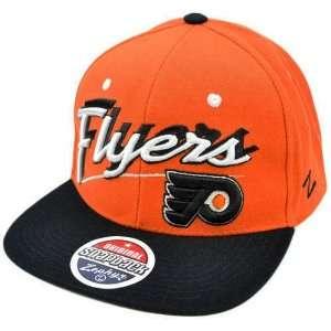 Hat Cap Orange Black White Flat Bill Zephyr