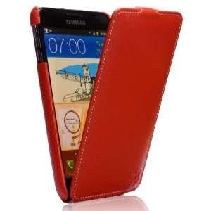 Note Tradition Ultra Slim Leather Flip Case Grained Red Electronics
