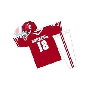 Oklahoma Sooners Youth NCAA Team Helmet and Uniform Set